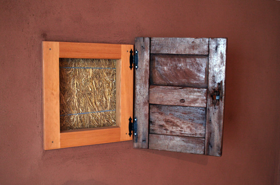 Truth window - Golden, Colorado straw bale home