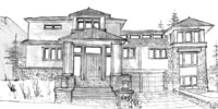 flatirons Boulder, Colorado architecture sketch