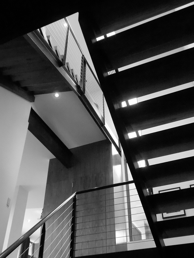 INTEGRATION STAIRS BLACK AND WHITE